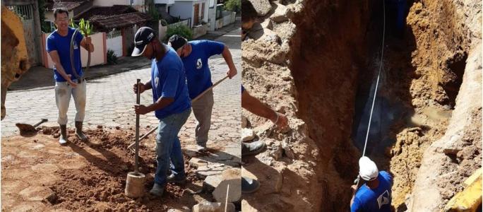 SAAE EM AÇÃO: Obras no Bairro Santa Cecília