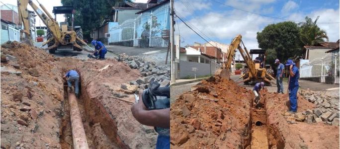 SAAE EM AÇÃO: Obras no Bairro Santa Cruz