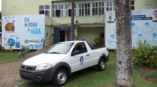O SAAE - Serviço Autônomo de Água e Esgoto de Guaçuí, adquire um veículo Fiat Strada
